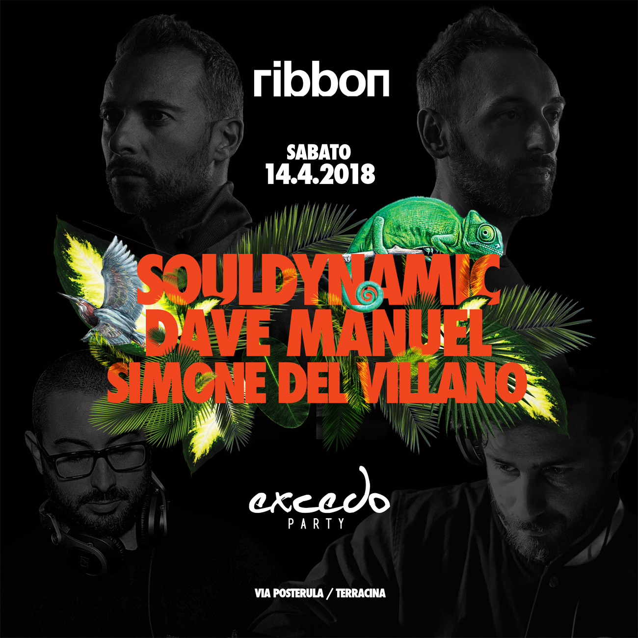 Souldynamic, Excedo Records, Ribbon Club, Party, Terracina, Italy