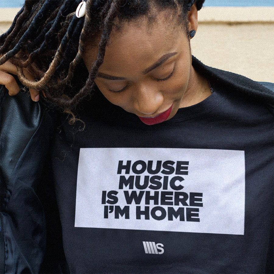Souldynamic Woman House Music is where i'm Home t-shirt